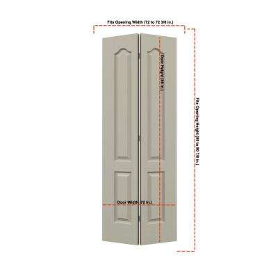 36 in. x 80 in. Princeton Desert Sand Painted Smooth Molded Composite MDF Closet Bi-fold Double Door