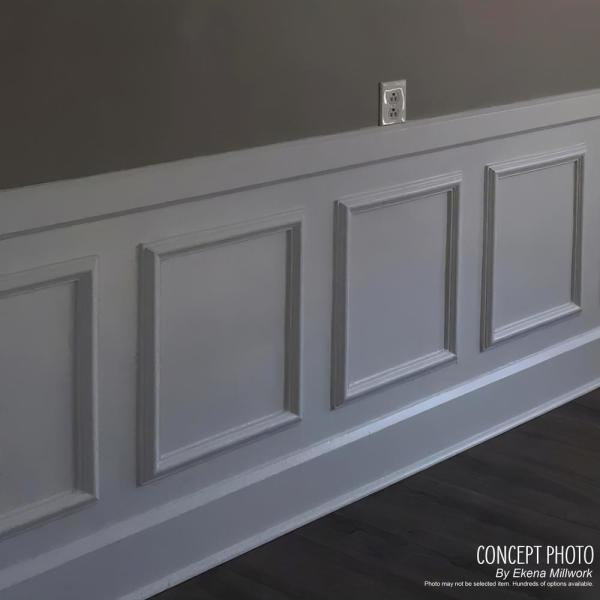 Ekena Millwork 16 In W X 20 In H X 1 2 In P Ashford Molded Classic Wainscot Wall Panel Pnl16x20as 01 The Home Depot