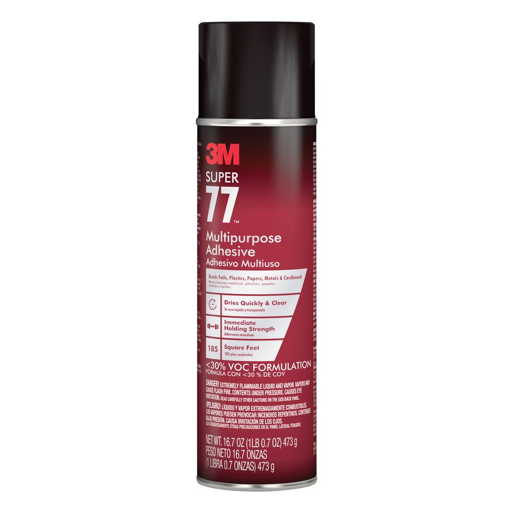 3M 16.7 oz. 3M Super 77 Multipurpose Adhesive