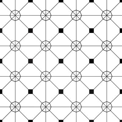 Zodiac Black and White Self-Adhesive Removable Wallpaper