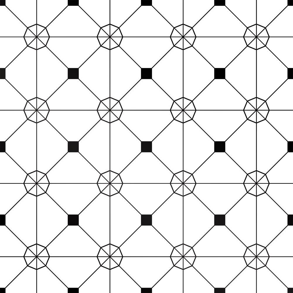 Tempaper Zodiac Black and White Self-Adhesive Removable Wallpaper