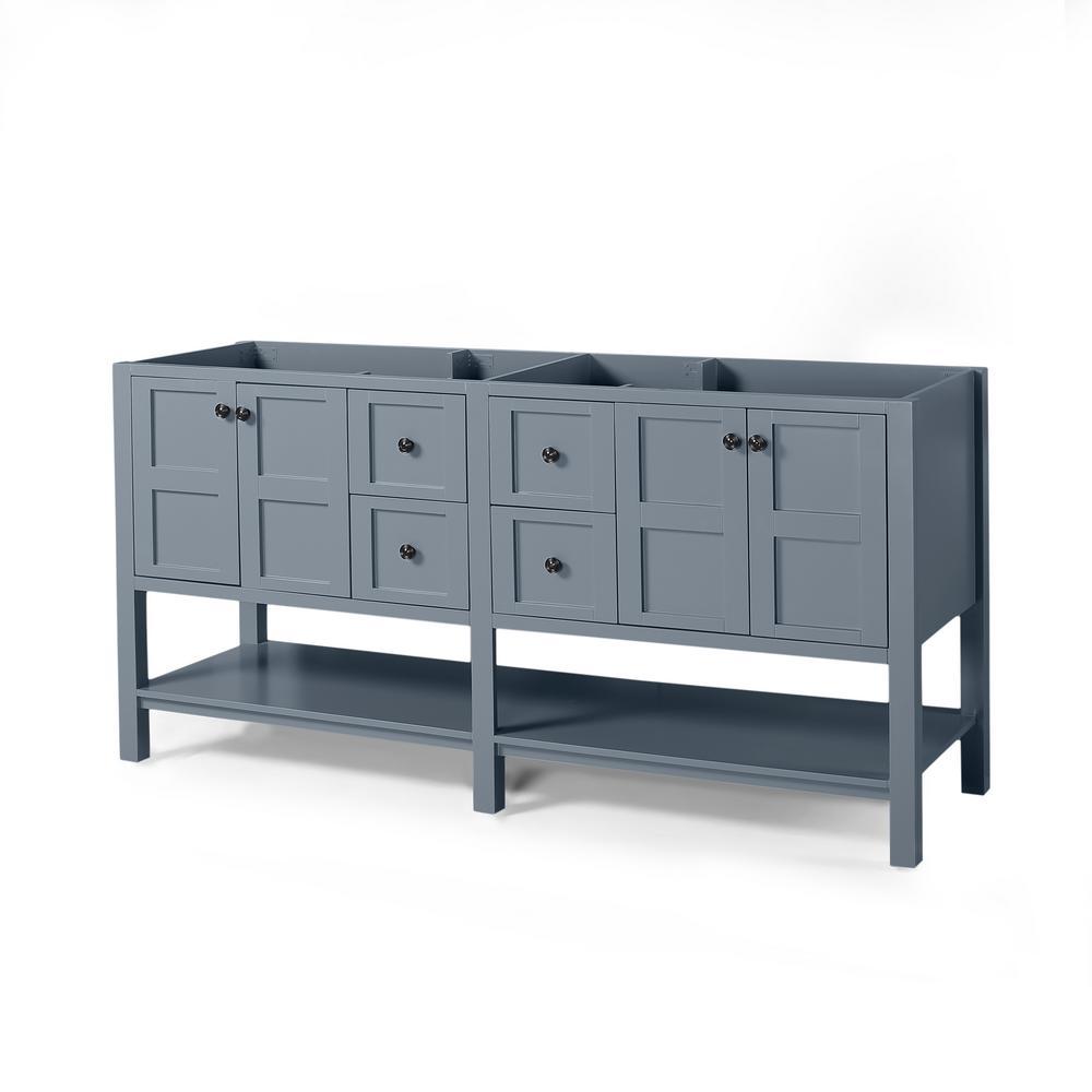 Jaeden 72 in. W x 22 in. D Bath Vanity Cabinet Only in Grey