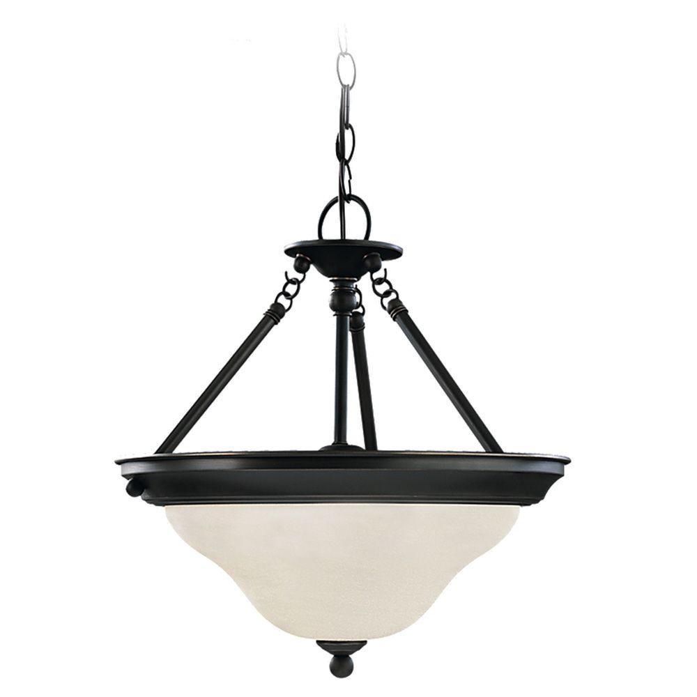 Sea Gull Lighting Sussex 3-Light Heirloom Bronze Semi-Flush Mount Light was $142.29 now $40.0 (72.0% off)