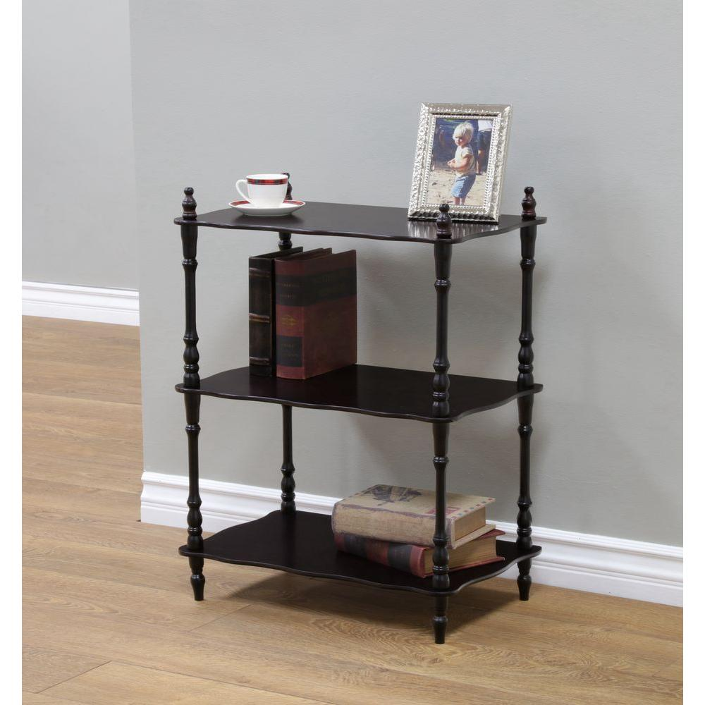 MegaHome 3-Tier 6 in. W x 23 in. H x 14 in. D Wood Rectangular Shape Shelf