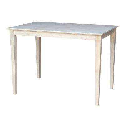 Unfinished Solid Wood Counter Table