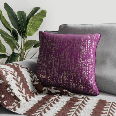 Metallic Purple Decorative Pillow (Set of 2)