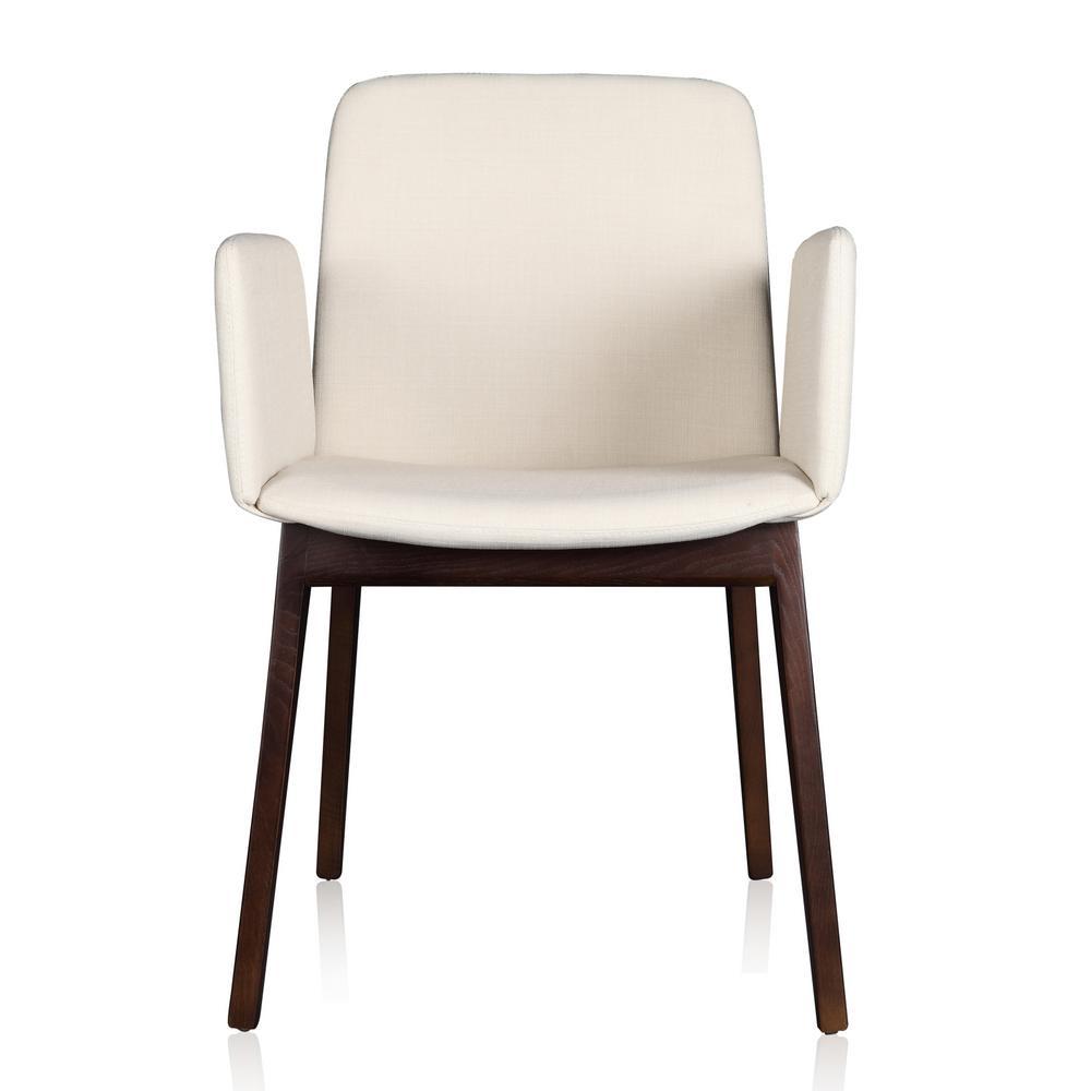 Cream Linen and Ash Wood Susannah Arm Chair