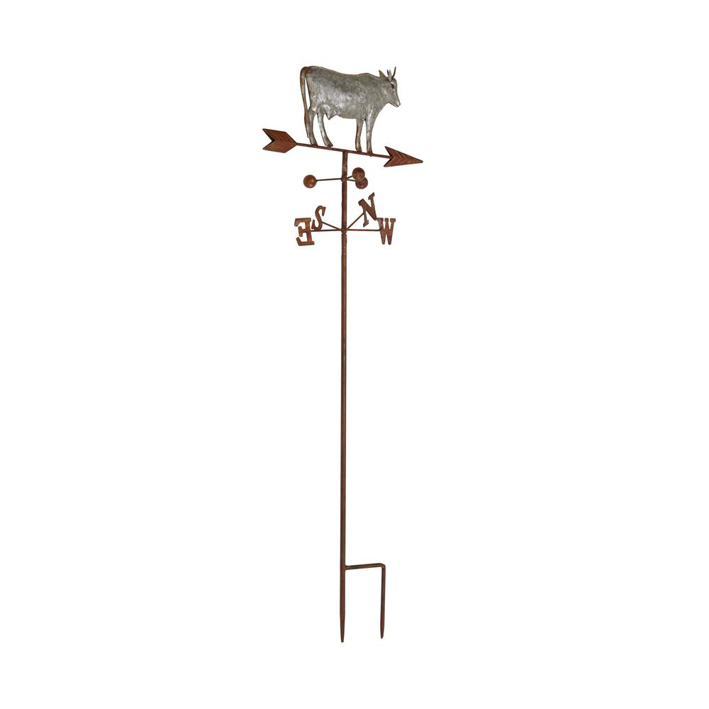 Iron Gray Cow on Weathervane Metal Work
