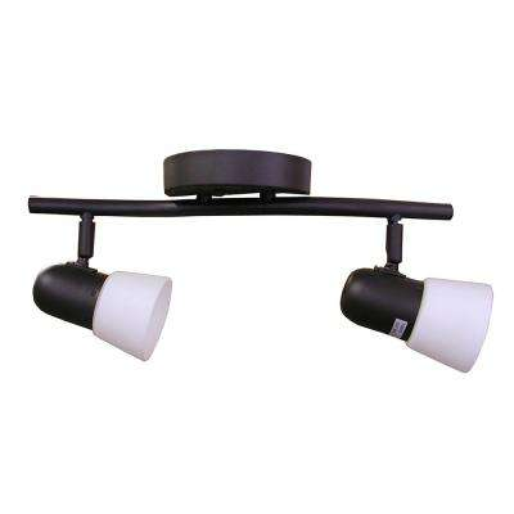 2-Light Ebony Bronze Track Lighting Kit