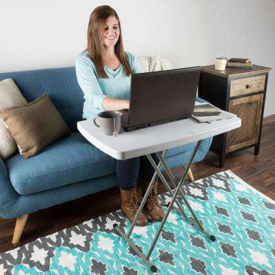 White 30 in. x 20 in. x 28 in. Personal Folding Table
