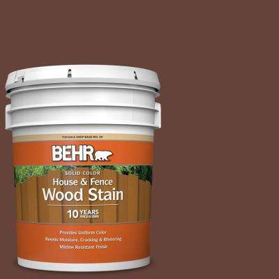 5 gal. #SC-117 Russet Solid Color House and Fence Exterior Wood Stain