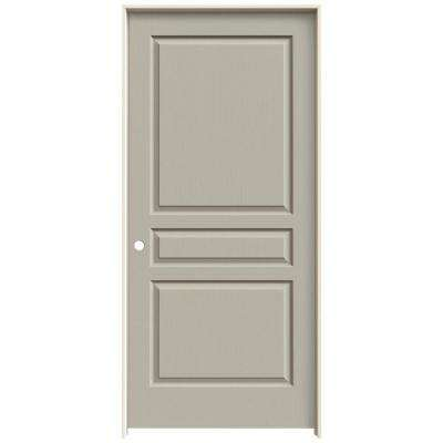36 in. x 80 in. Avalon Desert Sand Right-Hand Textured Hollow Core Molded Composite MDF Single Prehung Interior Door