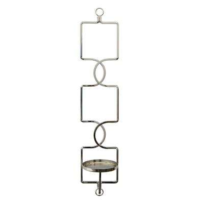 4.5 in. x 5 in. Silver Wall Sconces