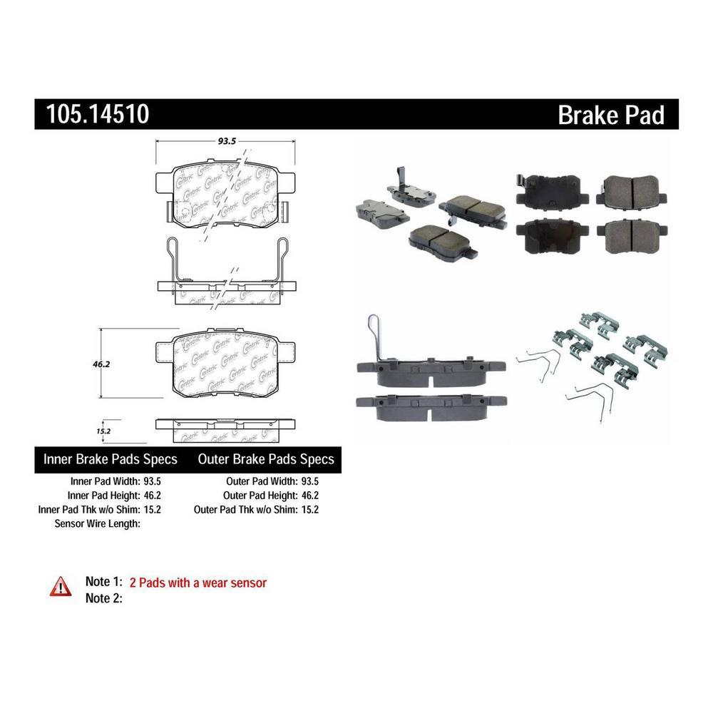 Centric 105.09722 Disc Brake Pad