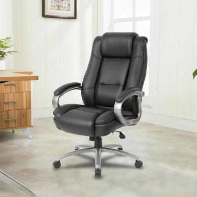 Black Fuax Leather Ergonomic Heavy Duty Chair with Seat Height Adjustment