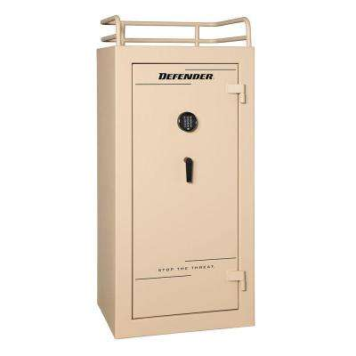 Defender 25 cu. ft. 28-Gun 60 Minute Fire Resistant U.L. Mechanical Lock Modular Tactical Gun Safe, Tan