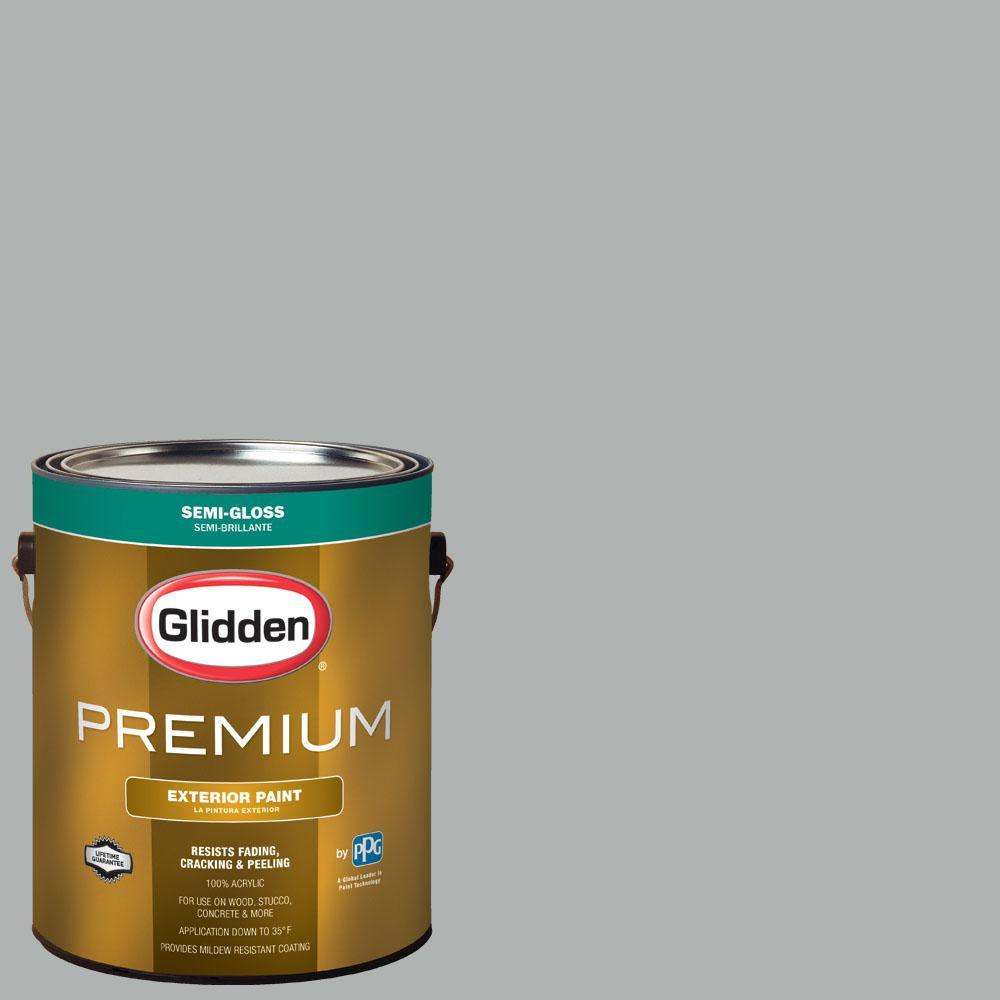1 gal. #NHL-009G Columbus Blue Jackets Gray Semi-Gloss Exterior Paint