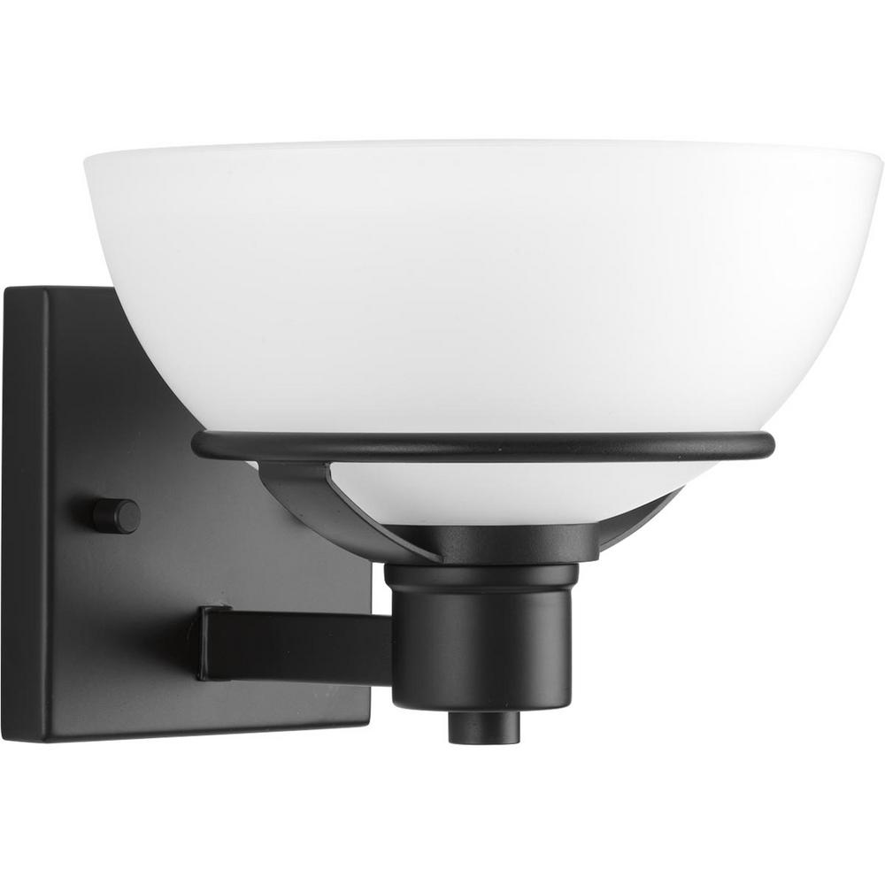 Progress Lighting Domain Collection 1 Light Black Bath