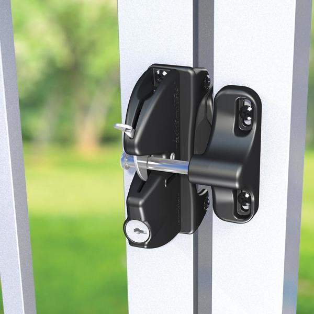 Lokk Latch D D Black Key Lockable Gate Latch 50560 The Home Depot