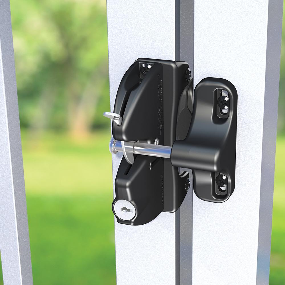 D&D Black Key-Lockable Gate Latch
