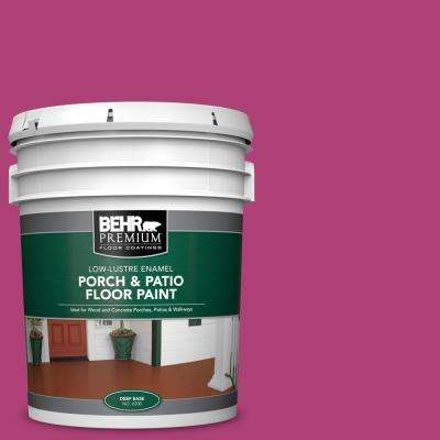 5 gal. #100B-7 Hot Pink Low-Lustre Enamel Interior/Exterior Porch and Patio Floor Paint