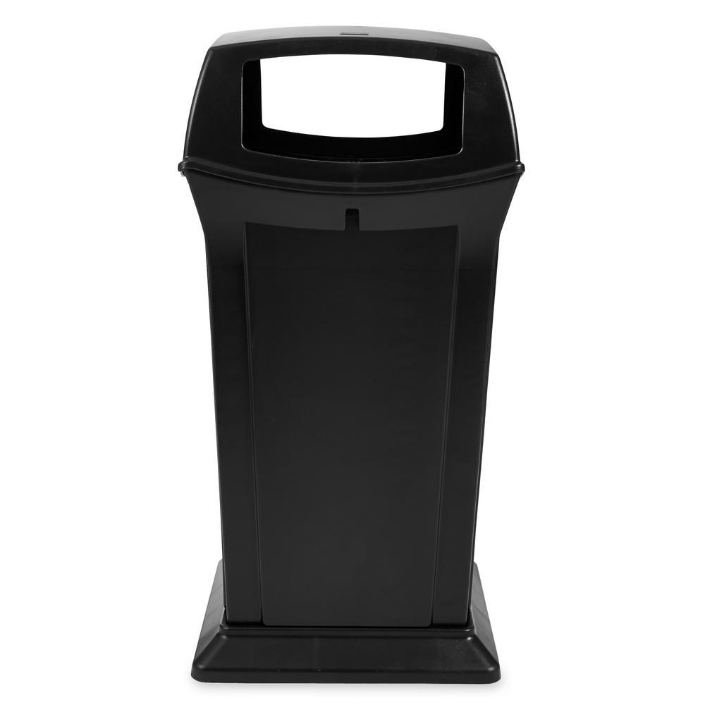 Ranger 65 Gal. Black Open Side Trash Can