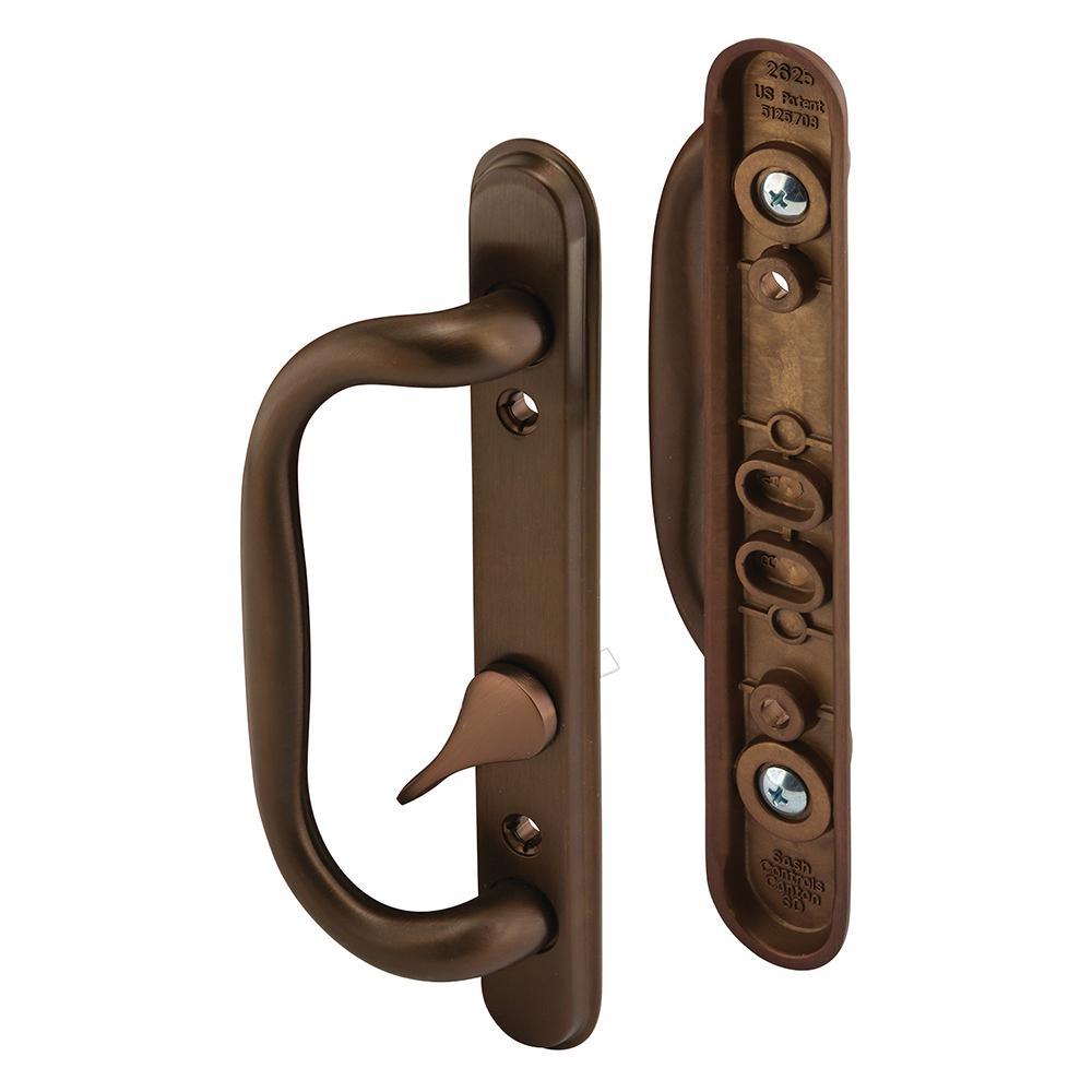 Prime-Line Sliding Door Handle Set, Oiled Bronze