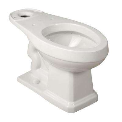 Round Toilet Bowl Only in White