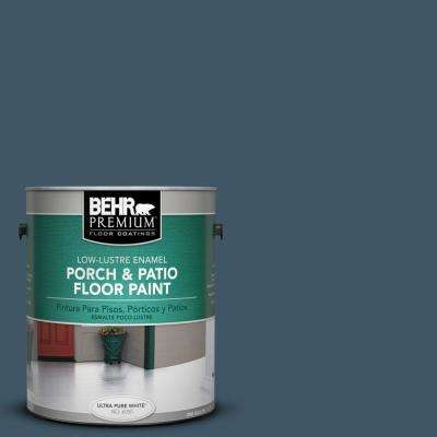 1 gal. #S480-7 Midnight in the Tropics Low-Lustre Porch and Patio Floor Paint