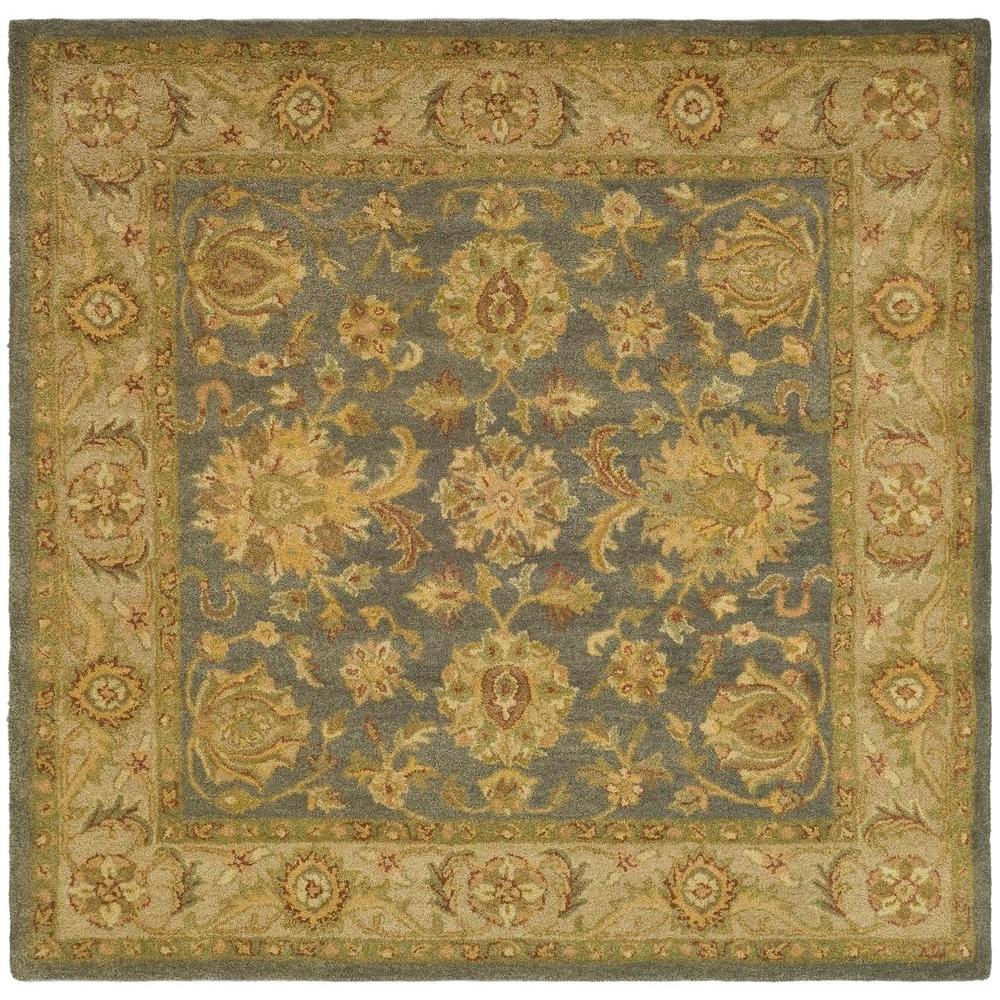 Antiquity Blue/Beige 6 ft. x 6 ft. Square Area Rug