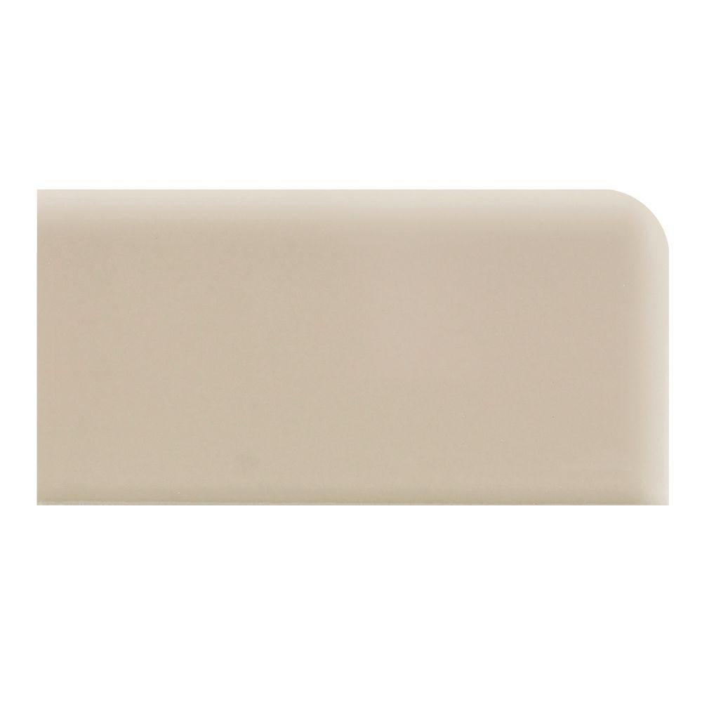 Daltile Rittenhouse Square Urban Putty 3 in. x 6 in. Surface Bullnose Right Corner Wall Tile
