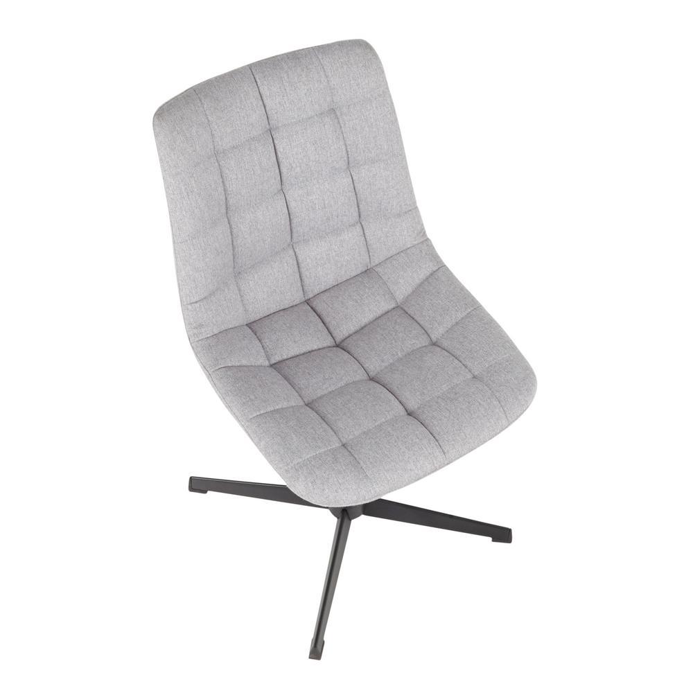 Astonishing Lumisource Quad Grey Fabric Swivel Chair With 4 Star Metal Evergreenethics Interior Chair Design Evergreenethicsorg