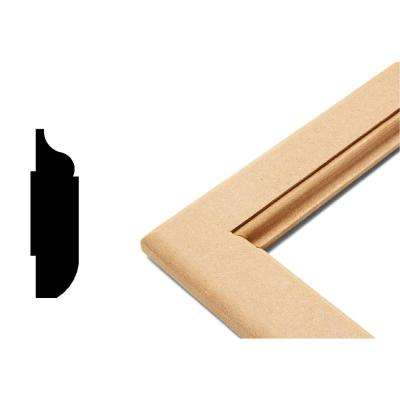 Ogee Collection 3/4 in. x 23 in. x 23 in. MDF Self Adhesive Chair Rail Panel Moulding (3-Piece)