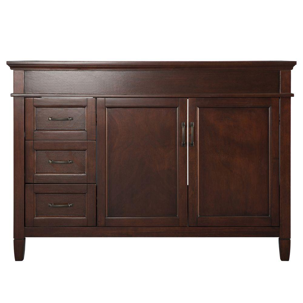Foremost ashburn 48 in w bath vanity cabinet only in for Vanity top cabinet