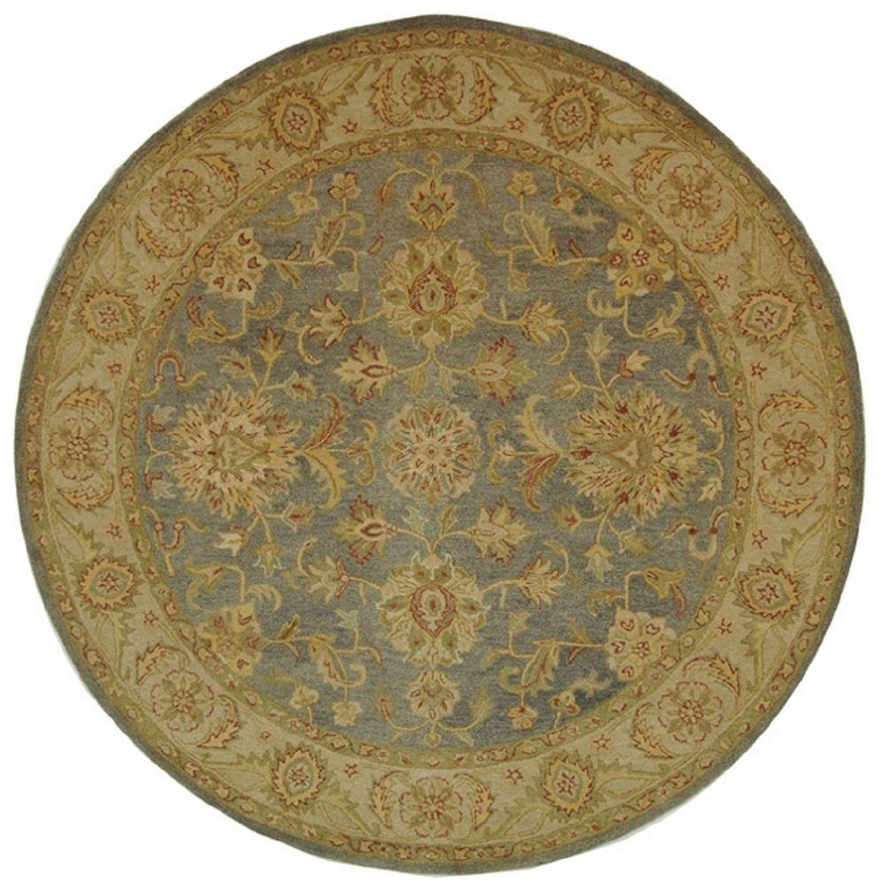 Safavieh Antiquity Blue/Beige 8 ft. x 8 ft. Round Area Rug