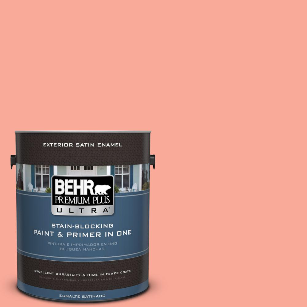 BEHR Premium Plus Ultra 1-gal. #190B-4 Duchess Rose Satin Enamel Exterior Paint