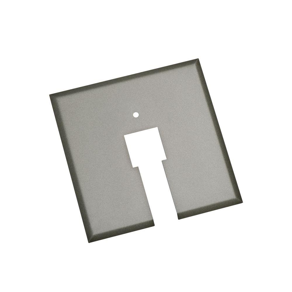 Designers Choice Collection Brushed Steel Box Cover Plate Track Lighting Accessory-DISCONTINUED