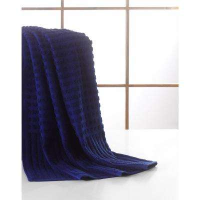 Pure Turkish Cotton Collection 27 in. W x 55 in. H Luxury Bath Towel in Midnight Blue