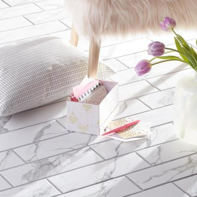 Spring Park White 4 in. x 12 in. Matte Porcelain Wall and Floor Tile (13.56 sq. ft./Case)
