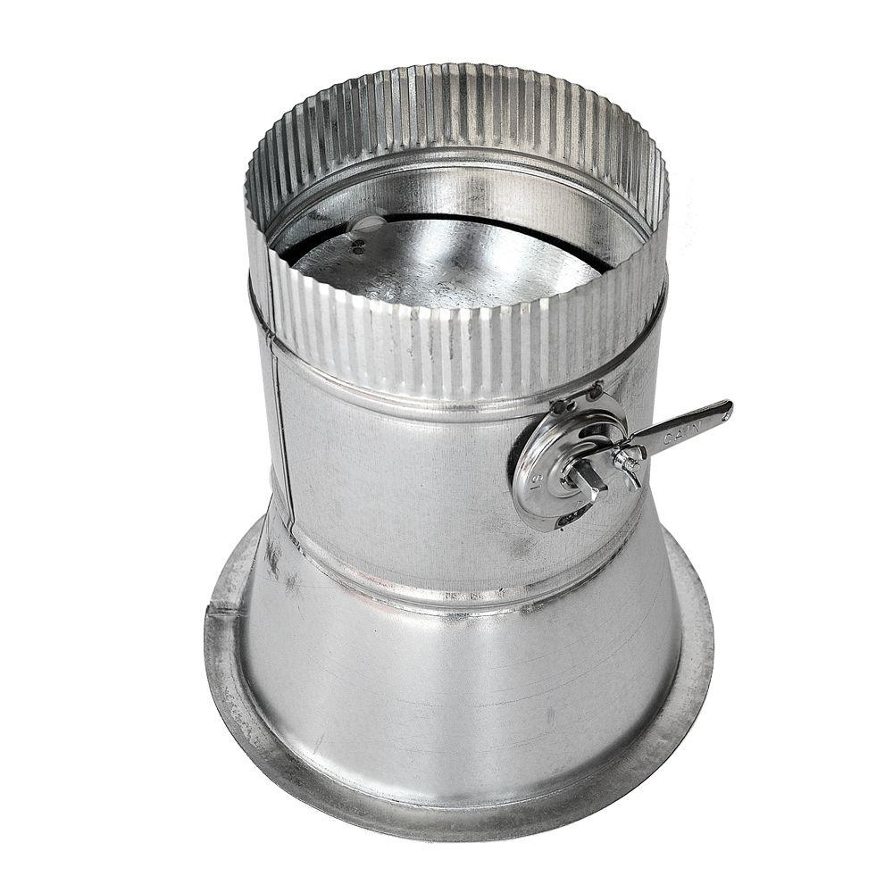 8 in. Conical Flanged Tap with Damper