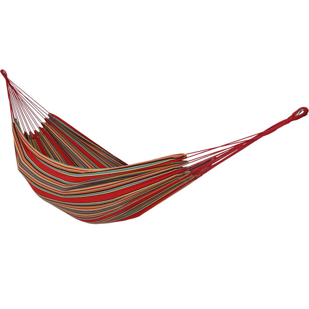 10.5 ft. Fabric Cotton Double Brazilian Hammock in Sunset