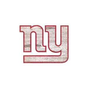 Nfl Indoor New York Giants Distressed Logo Cutout Wood Signs