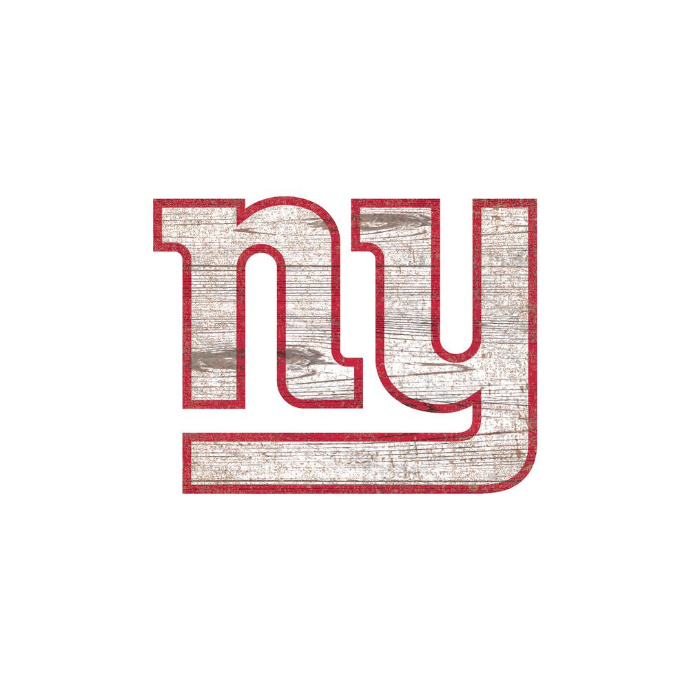 nfl indoor new york giants distressed logo cutout wood signs n0843