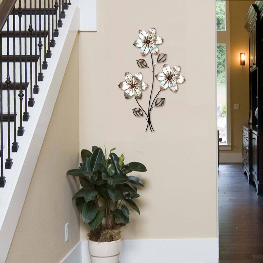 Stratton Home Decor Stratton Home Decor Eclectic 3 Stem Floral Wall Decor by Stratton Home Decor