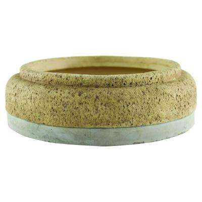 Modern Cork 9-1/2 in. Concrete Dish Garden Planter