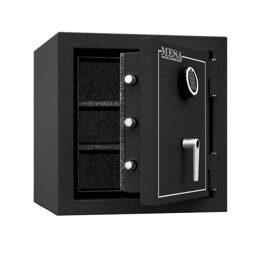 MESA 3.3 cu. ft. All Steel Burglary and Fire Safe with Electronic Lock, Hammered Grey