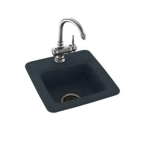 Single Bowl Bar Sink In Black Galaxy BS01515.015   The Home Depot