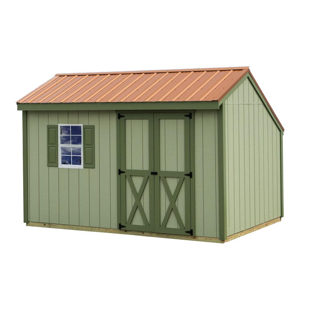 Aspen 8 ft. x 12 ft. Wood Storage Shed Kit with