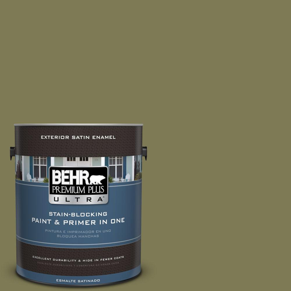 BEHR Premium Plus Ultra 1-gal. #S370-6 Seaweed Salad Satin Enamel Exterior Paint