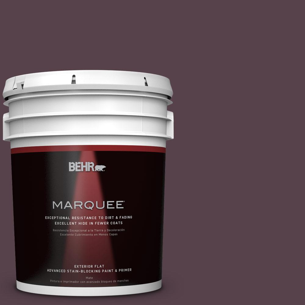 5 gal. #T15-4 Your Majesty Flat Exterior Paint